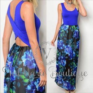 Royal Blue Maxi Dress - Women's Large